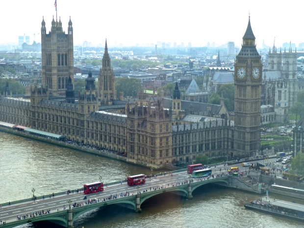 Views of Parliament from the London Eye