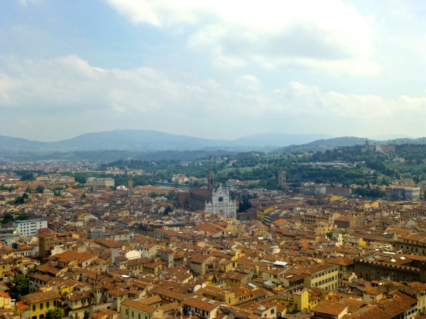 On top of the Duomo in Florence, Italy