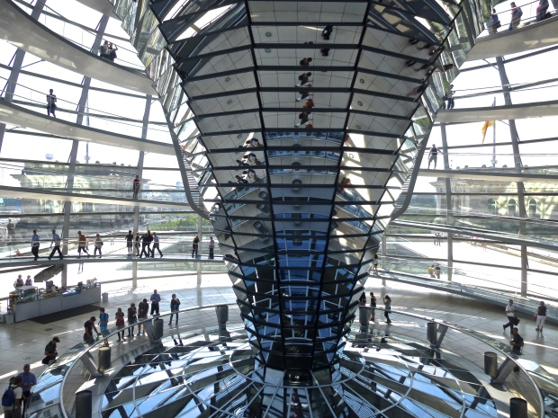 Inside the Dome of the Reichstag