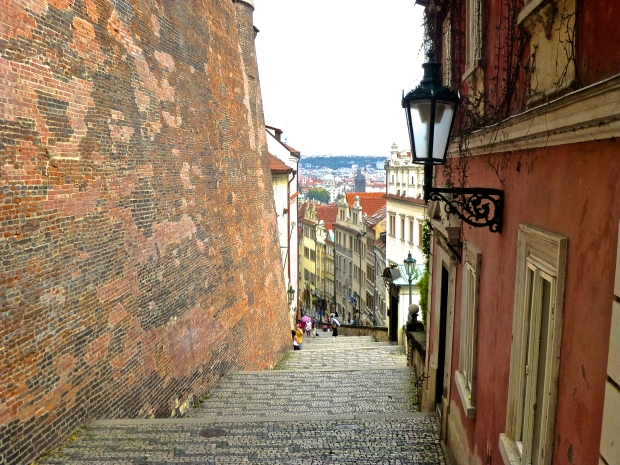 Beautiful Staircase on the Descent from Prague Castle