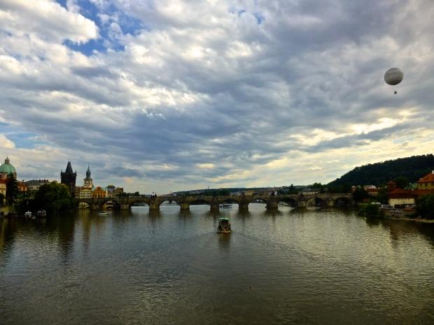 Sunset on the Vltava River