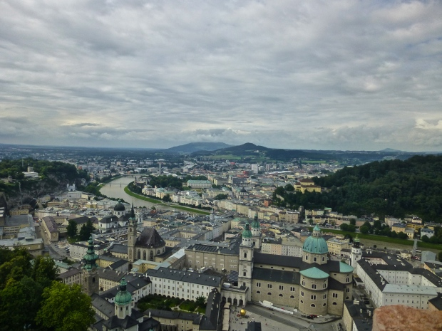 Salzburg from the top of the Hohensalzburg Fortress