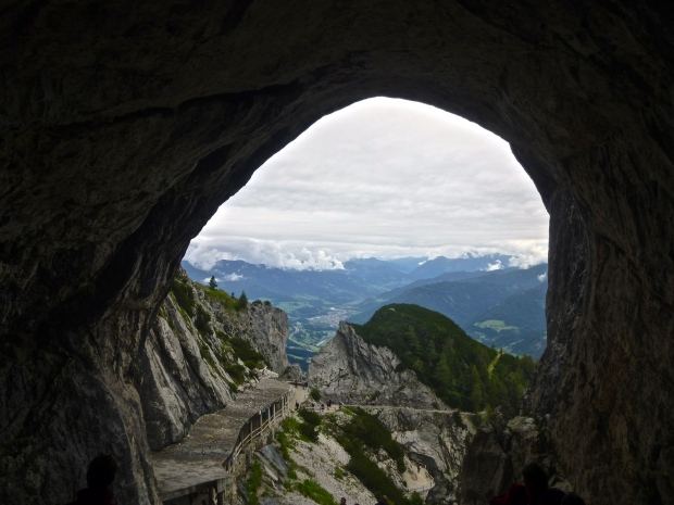 At the Top of the World - the Entrance to the Eisriesenwelt Ice Caves