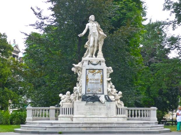 Mozart Statue in Burrgarten, Vienna