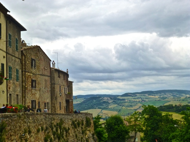 Watching the Storm Roll in from the walls of Pienza