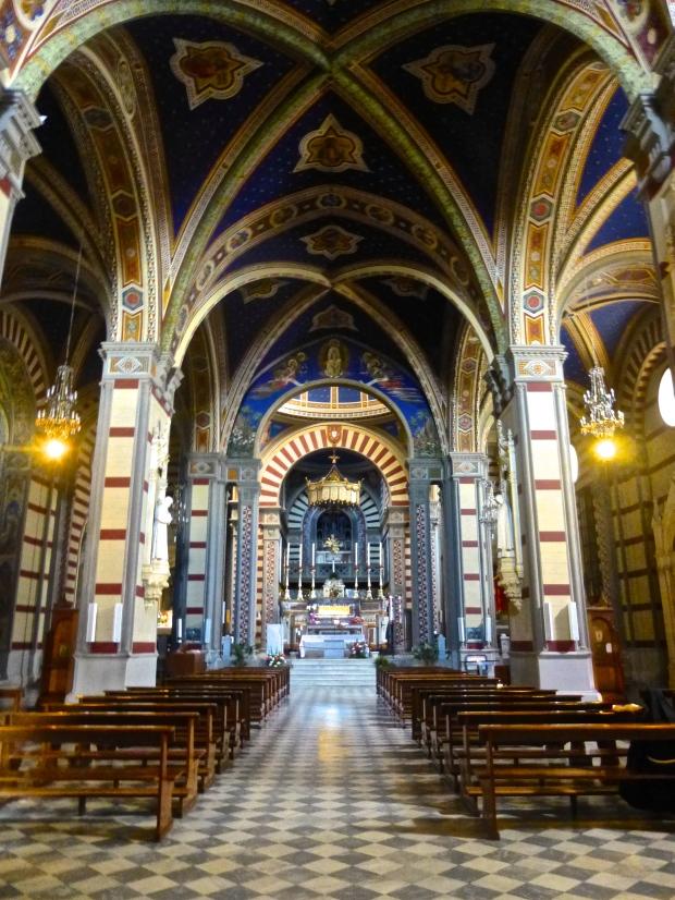 Inside Chiesa Santa Margherita in Cortona