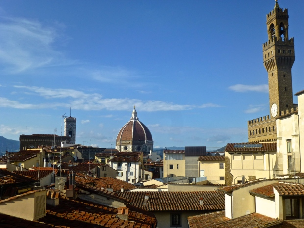 Views of Florence from the Terrace at Hotel degli Orafi