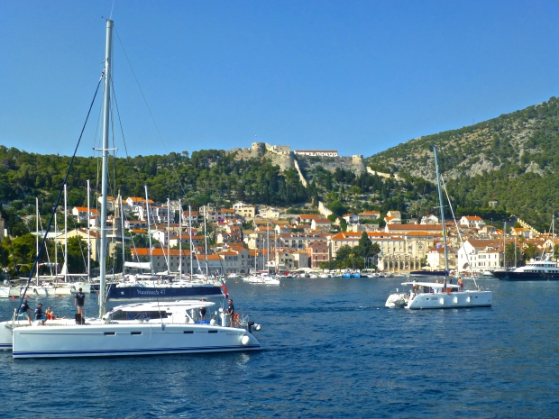 Sailing into Hvar Town