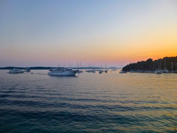 Sunset in Hvar Town