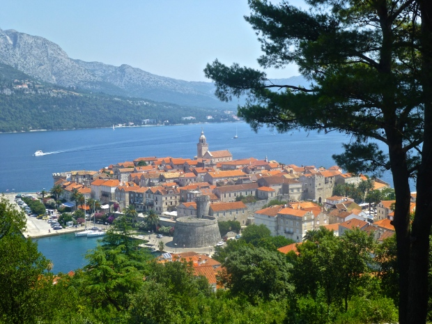 Views of Korcula Town from the Bike Path Above